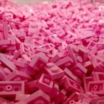 LEGO Store NYC so schön pink
