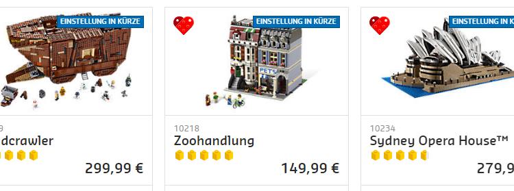 LEGO Bald Eingestellt